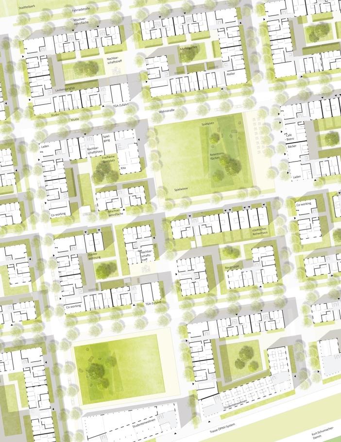 Detailplan 1:500, © Stadt Land Fluss, bgmr Landschaftsarchitekten, ISSSresearch&architecture