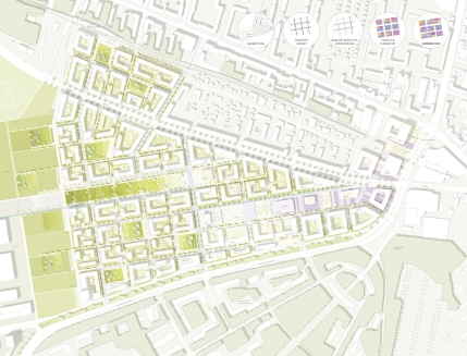 Masterplan 1:1000, © Stadt Land Fluss, bgmr Landschaftsarchitekten, ISSSresearch&architecture